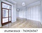 empty interior in modern house  | Shutterstock . vector #763426567