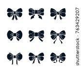 bow vector illustration set