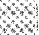 hand drawn graphic vintage... | Shutterstock .eps vector #763432807