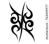 tattoo tribal designs. sketched ... | Shutterstock .eps vector #763439977