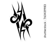 tattoo tribal designs. sketched ... | Shutterstock .eps vector #763439983