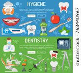 dental services dentistry... | Shutterstock .eps vector #763440967