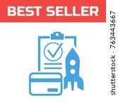 marked checklist icon. check...   Shutterstock .eps vector #763443667