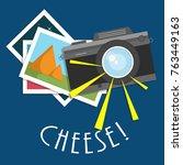 retro  vintage camera  flat... | Shutterstock .eps vector #763449163