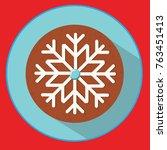 christmas cookie. gingerbread... | Shutterstock .eps vector #763451413