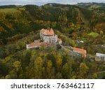 castle pernstejn in czech... | Shutterstock . vector #763462117
