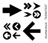 different black arrows icons... | Shutterstock .eps vector #763467037
