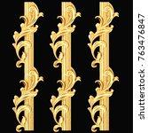 3d illustration of golden... | Shutterstock . vector #763476847