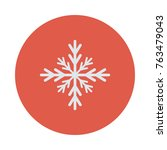 snowflake circle flat | Shutterstock .eps vector #763479043