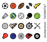 sport world symbol and color... | Shutterstock .eps vector #763484767