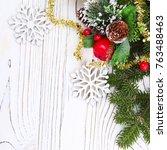 christmas background  christmas ... | Shutterstock . vector #763488463