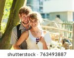 real estate and family concept  ... | Shutterstock . vector #763493887