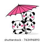 vector illustration of lovely... | Shutterstock .eps vector #763496893