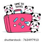 vector illustration of lovely... | Shutterstock .eps vector #763497913