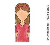beautiful woman avatar character   Shutterstock .eps vector #763511833