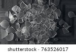 3d rendering of shuttered glass ... | Shutterstock . vector #763526017
