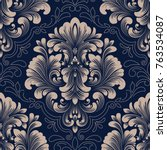 vector damask seamless pattern... | Shutterstock .eps vector #763534087