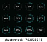 vector set illustration with... | Shutterstock .eps vector #763539343