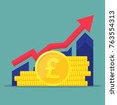 financial performance ... | Shutterstock .eps vector #763554313