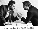 business rivalry. businessmens... | Shutterstock . vector #763554487