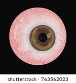 realistic human eye with light... | Shutterstock .eps vector #763562023