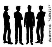 vector silhouettes of men...   Shutterstock .eps vector #763565197