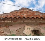 Old Weathered Facade Of...