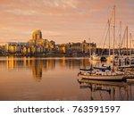 inner harbor of victoria ... | Shutterstock . vector #763591597