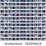 residential cells of the hostel ... | Shutterstock . vector #763596613