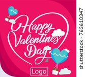 happy valentine day card | Shutterstock .eps vector #763610347