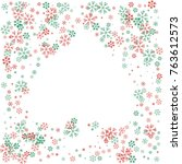 spades shaped christmas border... | Shutterstock .eps vector #763612573