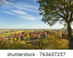 view from a hill over the... | Shutterstock . vector #763637257