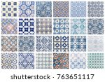 beautiful collage of different... | Shutterstock . vector #763651117