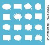 empty talk bubble set. speech... | Shutterstock .eps vector #763660687