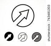 cursor pointer icon in circle....   Shutterstock .eps vector #763681303