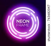 purple gradient neon light... | Shutterstock .eps vector #763682047