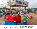 Small photo of Marina beach,Chennai,India,Nov 06 2017: A very good local food stall ready to serve people or tourists or visitors. These type of food stalls offer eatables at affordable price.