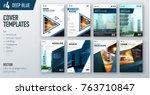 set of business cover design... | Shutterstock .eps vector #763710847