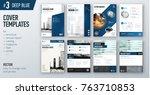 set of business cover design... | Shutterstock .eps vector #763710853