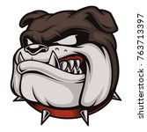 vector illustration with angry... | Shutterstock .eps vector #763713397