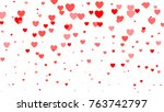 heart halftone valentine s day... | Shutterstock .eps vector #763742797
