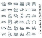 set of 36 car outline icons...