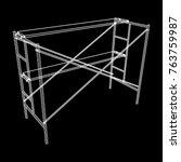 scaffolding construction... | Shutterstock .eps vector #763759987