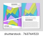 abstract vector layout... | Shutterstock .eps vector #763764523