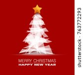 merry christmas happy new year... | Shutterstock .eps vector #763772293