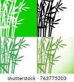 bamboo  bambus  set background  ... | Shutterstock .eps vector #763775203