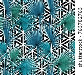 seamless pattern with image of... | Shutterstock .eps vector #763782763