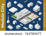 set of urban areas of modules... | Shutterstock .eps vector #763783477