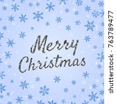 merry christmas banner template ...   Shutterstock .eps vector #763789477