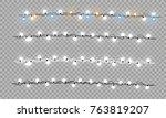 christmas lights isolated... | Shutterstock .eps vector #763819207